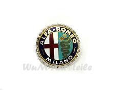 Emblem Alfa Romeo Milano aus Metall  NEU new enamelled Alfa emblem