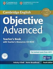 Cambridge OBJECTIVE ADVANCED CAE Teacher's Book +CD-ROM Fourth Ed 2015 Exam @NEW
