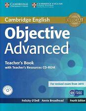 Cambridge OBJECTIVE ADVANCED CAE Teacher's Book +CD-ROM Fourth Ed 2015 Exam @NEW