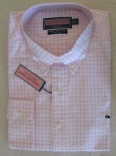 NWT Vineyard Vines Mens Palm Beach Slim Fit Striped Whale Shirt Sz XL Pink
