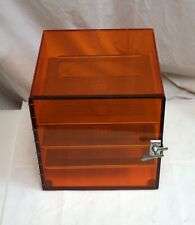 Terra Universal Desiccator 12x12x12 Amber Acrylic 3 Grounded Stainless Shelves