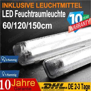 LED Feuchtraumlampe 60/120/150cm Wannenleuchte Garage Deckenleuchte Keller Röhre