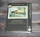 Dimensions Counted Cross Stich Gold Collection Horses By a Stream 35174