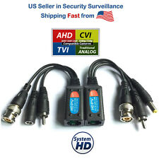A Pair 2Pcs Pvd Video Balun with Power Video and Data Cctv via Utp Rj45 Twisted