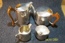 Picquot Ware tea service 4 pcs-made in England-hot water,tea pot,sugar,creamer