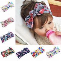 Girls Kids Baby Bunny Rabbit Bow Knot Turban Headband Hair Head Wrap  Gifts
