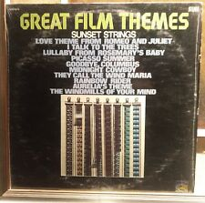 Sunset Strings ‎– Great Film Themes Lp Us Issue Sunset Records EX/NM