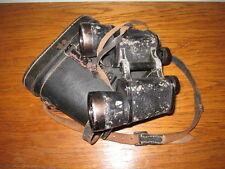 WW2 German Wehrmacht 10x50 Ernst Leitz Binoculars & Case - VERY NICE!