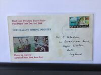 New Zealand 1969 Fishing Industry  souvenir stamps cover Ref R25931