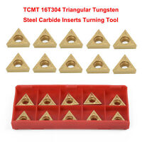 """10pcs TCMT16T304 Tungsten Carbide Inserts TCMT 32.51 For 1/2"""" Lathe Turning Tool"""