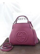 NWT Gucci Soho Leather Small A Shape Shoulder Bag Rose Peonia