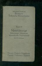 Veicoli Motore Motore AUTO BARCHE A MOTORE ARIA MOTORE navi macchine volanti 1910