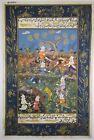 The Wonderful Persian Hunting Manuscript Miniature Art Handmade Painting