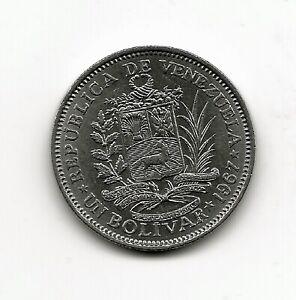World Coins - Venezuela 1 Bolivar 1967 Coin Y# 42 ; Lot-V3