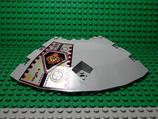 LEGO One Panel 14 x 14 x 2 2/3 Quarter Saucer Top w/ UFO Pattern Left Light Gray