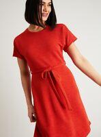 TU WOMAN 8 10 Burnt Orange Textured Stretch Jersey Winter Dress