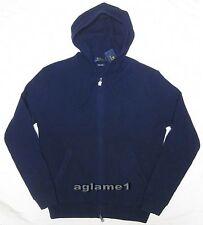 $245 Polo Ralph Lauren Waffle 100% Italian wool Hoodie hood Sweater cardigan M