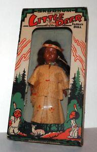 Vintage Skookum Little Deer Native American girl doll in original box