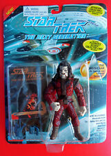 Star Trek TNG NAUSICAAN Tapestry Alien Action Figure Playmates +Trading Card MOC