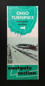 1950's Ohio Turnpike Eastgate Section Tri-Fold Vintage Brochure