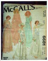 M 6681 sewing pattern 70's Bridal Maid DRESS Wedding GOWN SLIP sew UNCUT size 8