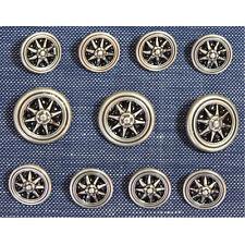 Silver  Metal Blazer Buttons Set For Suit Sport Coat
