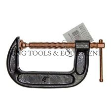 New KING 4 Inch C Clamp, Strong Grip Iron Body Copper-Plated Steel Screw G Clamp
