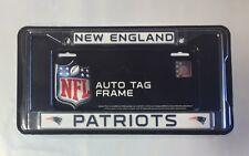 New England Patriots Chrome Metal License Plate Frame - Auto Tag Holder - NEW