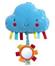 UCCELLINO mi ha detto di soffici Nuvola Musicale Culla Pull Toy con specchio & PIEGHE