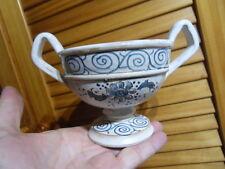 Vintage cup chalice ancienne coupe calice faience de ST Saint Omer