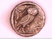 Greek Tetradrachm Silver Plate Athens Owl Athena Free Post Xmas Gift coin coins