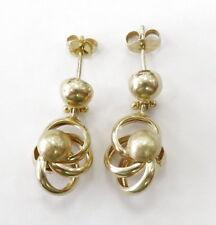 14k Yellow Gold Knot Hanging Drop Ladies Earrings ~3.7g