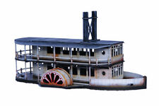 Gas Lamp Alley COLONIAL PADDLE STEAMER SIDE WHEEL 28mm Laser cut MDF kit G090