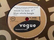 78 RPM MEADE LUX LEWIS - Chicago flyer boogie - VOGUE 3098