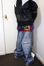 ☆—Eminem—Silver—Baggy Jeans—W34—Glanz—Baggies—Shiny—Denim—Gloss—Silber—☆