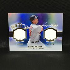 DAVID FREESE CARDINALS 2013 TOPPS TRIBUTE SUPERSTAR SWATCH BLUE JERSEY # 26/50