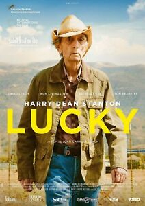 Z1192 Lucky French Movie Hot 2017 Film Harry Dean Stanton is Lucky Silk Poster