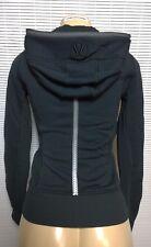 LULULEMON Special Uba Hoodie Reflective Black Zipper Sleeve Sweatshirt Jacket 4
