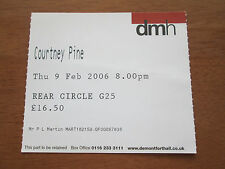 Courtney Pine - De Montfort Hall Leicester 9.6.2006 Used Concert Ticket