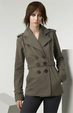 MIKE & CHRIS MONTGOMERY DOUBLE BREASTED SHORT TRENCH JACKET COAT BELT XS