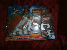GENERATOR REX TWIN BLASTER BOOGIE PACK +  ACTION FIGURE NEW