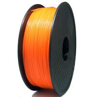 PLA Filament für 3D Drucker Printer 1,75mm/1kg  Spule Trommel Rolle orange