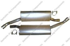 JAGUAR XJ6 X300 REAR EXHAUST SILENCERS *SUPPLIED WITH EXHAUST CLAMPS*
