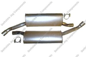 FOR JAGUAR - XJ6 X300 REAR EXHAUST SILENCERS *SUPPLIED WITH EXHAUST CLAMPS*