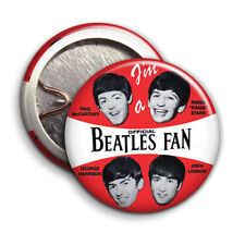 Im a Official Beatles Fan -  Button Badge - 25mm 1 inch - Beatles Fan Club Music