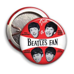 Im a Official Beatles Fan -  Button Badge - 25mm 1 inch - Beatles Fan Club Music