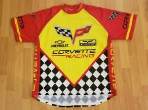 New World Jerseys Cycling Chevrolet Corvette GM Pullover Shirt XXL - Free Ship