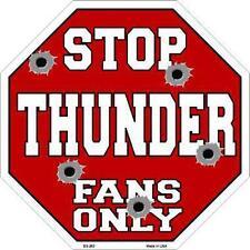 NBA Basketball Oklahoma City Thunder Metal Stop Sign ManCave Garage Barn BS-263
