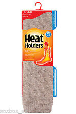 Ladies New Long WOOL 2.7 Tog Thermal Heat Holder Socks 4-8 Uk, 37-40 Eur Oatmeal