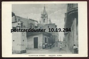 294 - CUBA Havana 1910s Cuartales Street